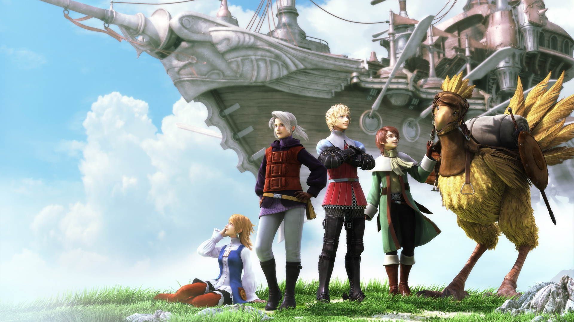 Final Fantasy III Wallpaper 013 – Together