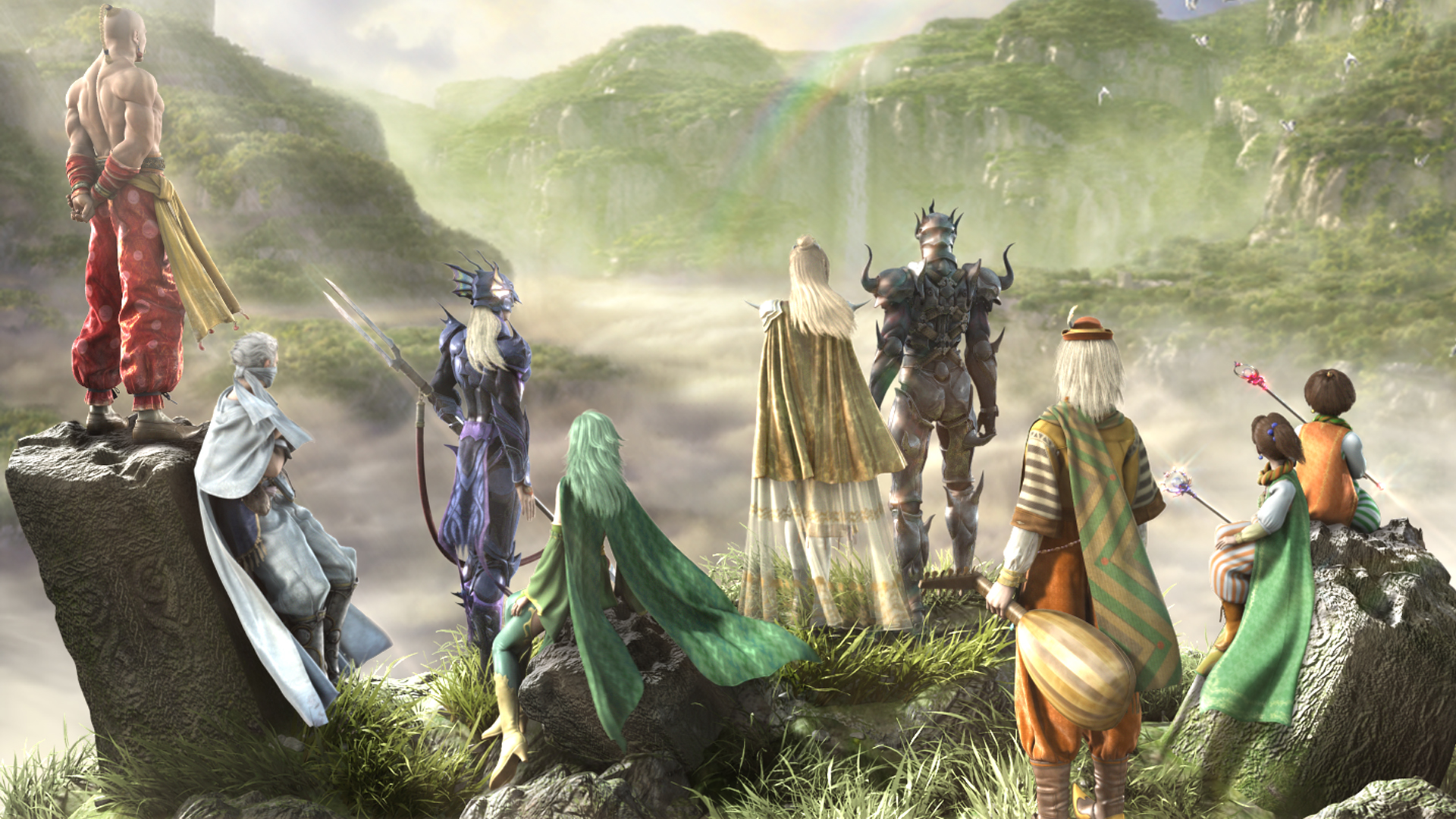 Final Fantasy IV Wallpaper 009 – The Gathering