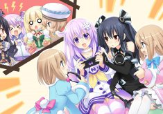 Hyperdimension Neptunia Re;Birth 2: Sisters Generation Wallpaper 011 – Sleepover Party