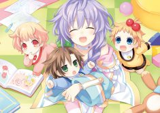 Hyperdimension Neptunia Re;Birth 3: V Generation Wallpaper 004 – Plutia & the Kids