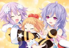 Hyperdimension Neptunia Re;Birth 3: V Generation Wallpaper 005 – Neptune, Plutia & Peashy