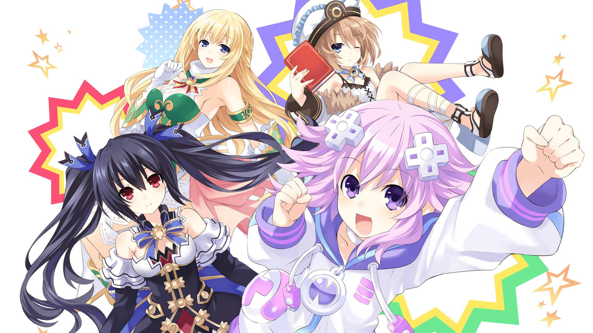Hyperdimension Neptunia U: Action Unleashed Wallpaper 001 – 4 CPUs