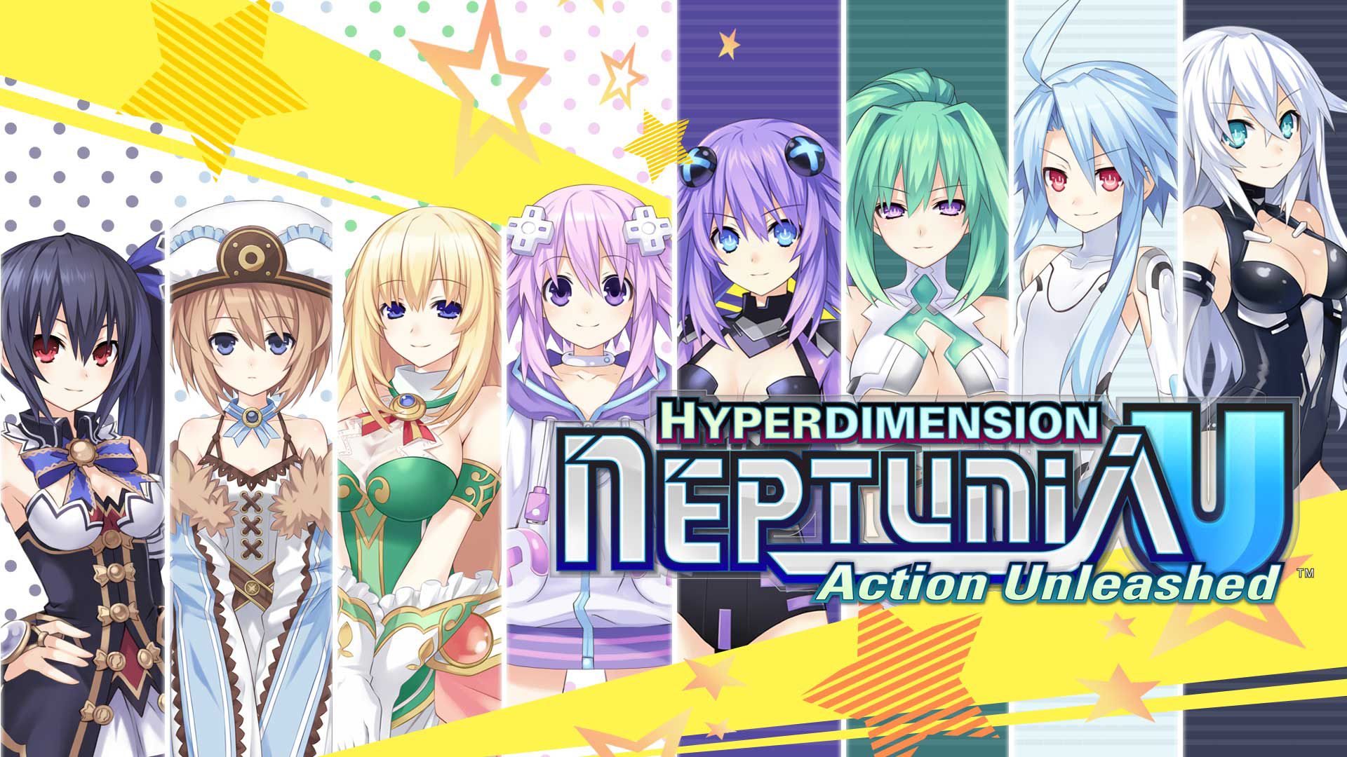 Hyperdimension Neptunia U: Action Unleashed Wallpaper 003 – The Goddesses