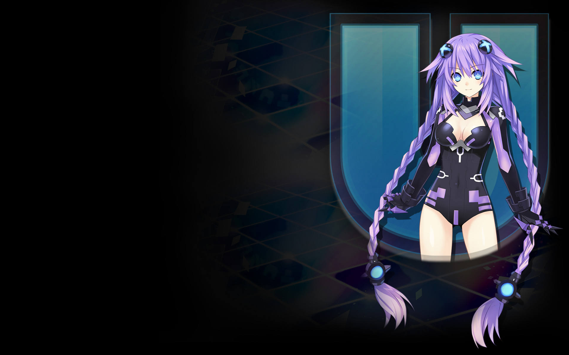 Hyperdimension Neptunia U: Action Unleashed Wallpaper 008 – Purple Heart HDD