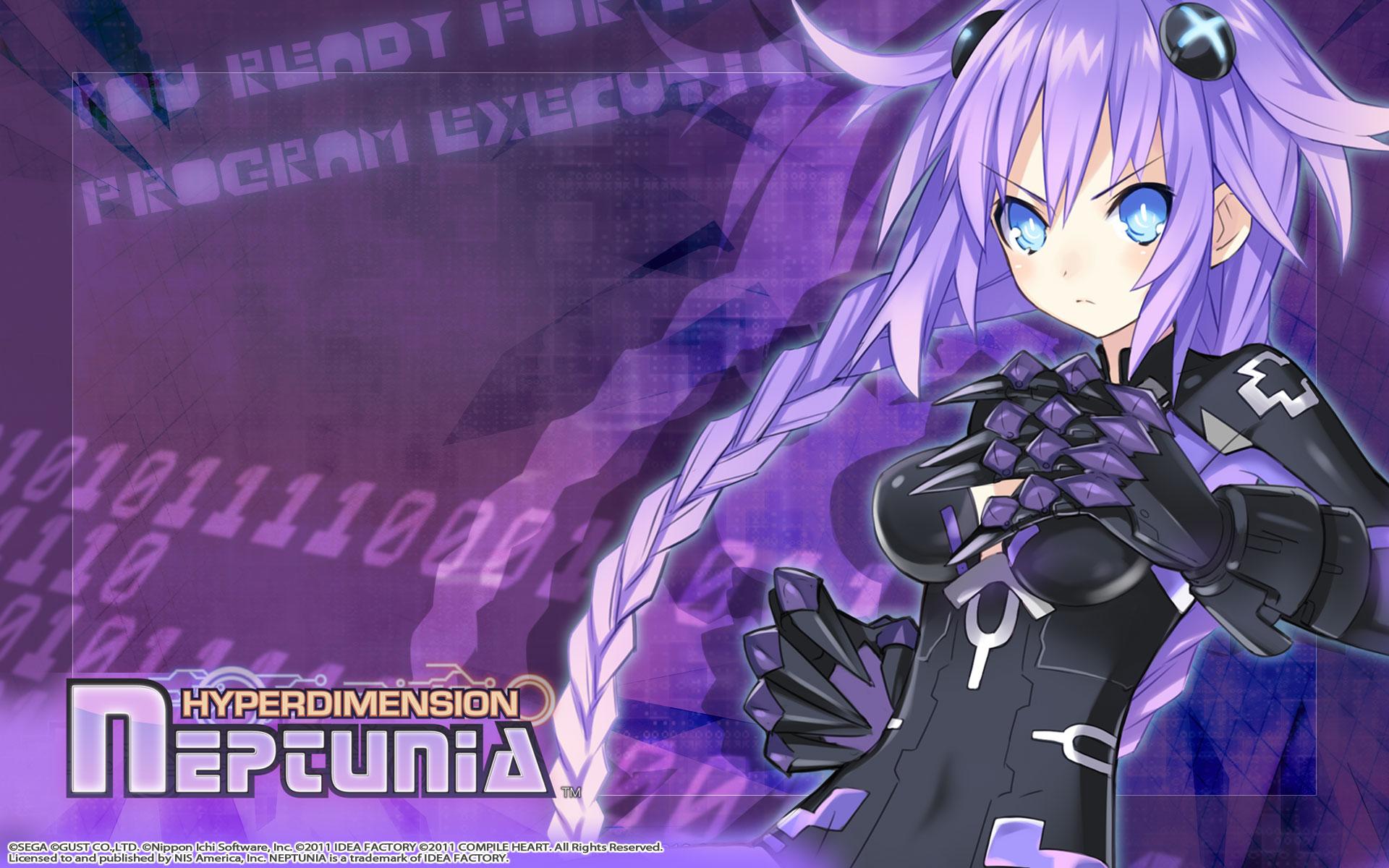 Hyperdimension Neptunia Wallpaper 004 Purple Heart Neptune