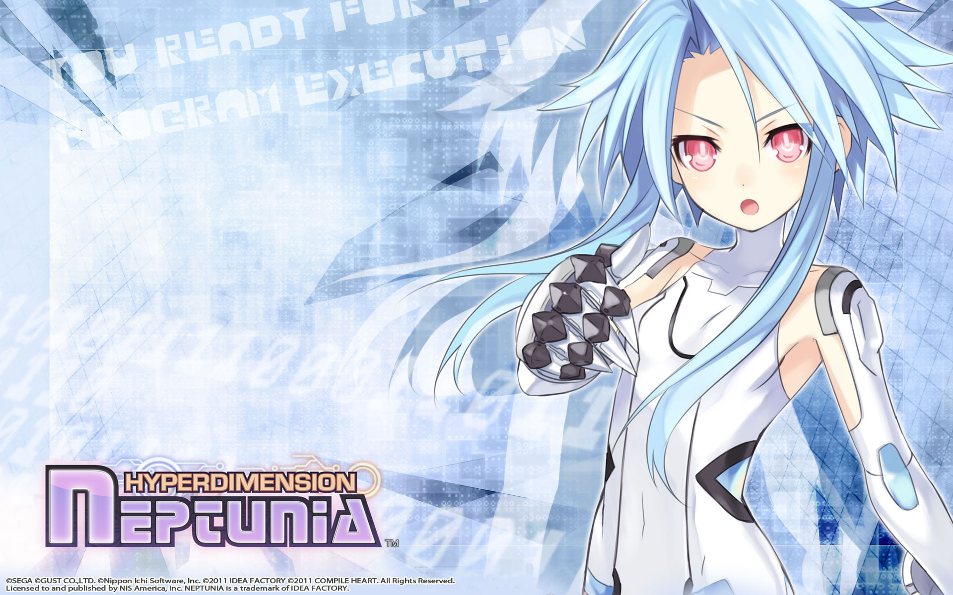 Hyperdimension Neptunia Wallpaper 006 White Heart Blanc