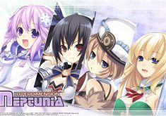 Hyperdimension Neptunia Wallpaper 014 – Neptune, Noire, Blanc & Vert