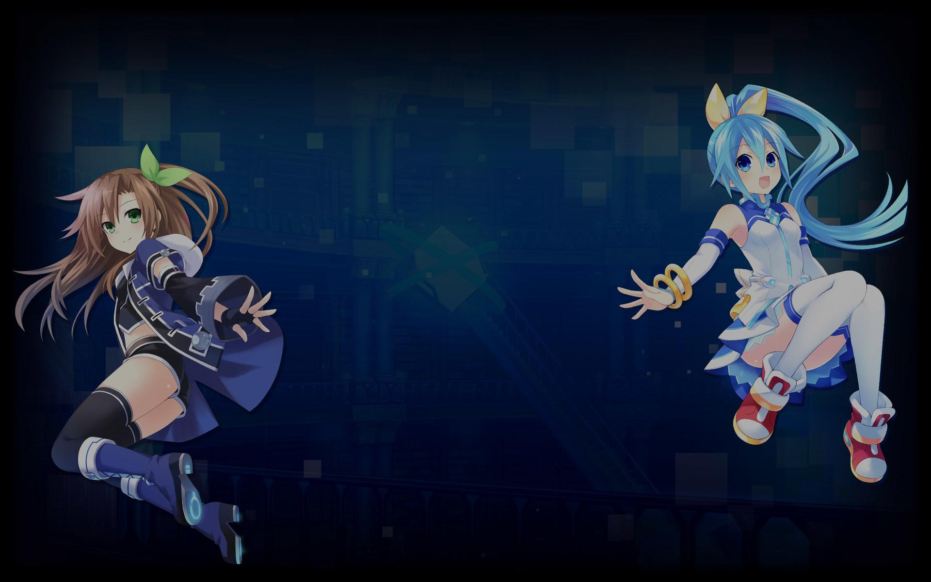 Superdimension Neptune vs SEGA Hard Girls Wallpaper 002 – IF & Segami