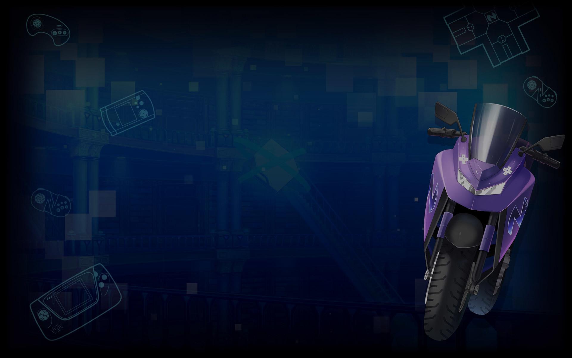 Superdimension Neptune vs SEGA Hard Girls Wallpaper 004 – Bike Neptune