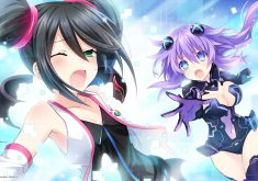 Superdimension Neptune vs SEGA Hard Girls Wallpaper 006 – Sega Saturn & Purple Heart
