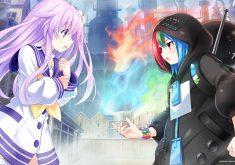 Superdimension Neptune vs SEGA Hard Girls Wallpaper 009 – Nepgear & Game Gear