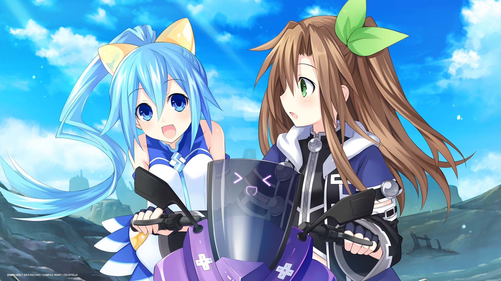 Superdimension Neptune vs SEGA Hard Girls Wallpaper 010 – Segami & IF