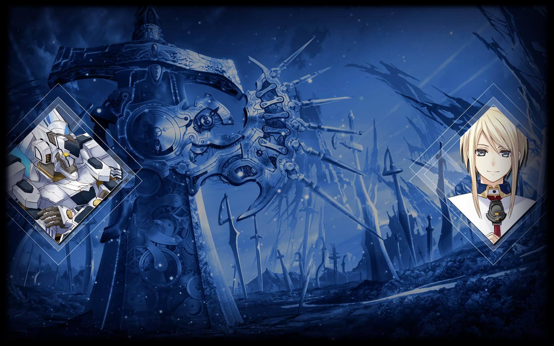 Fairy Fencer F: Advent Dark Force Wallpaper 006 - Sherman and Ryushin