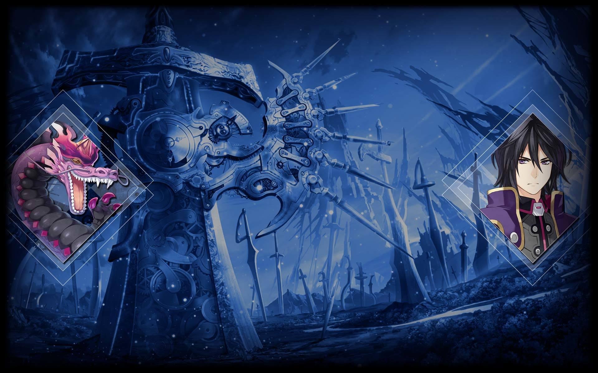 Fairy Fencer F: Advent Dark Force Wallpaper 008 - Apollonius and Seguro