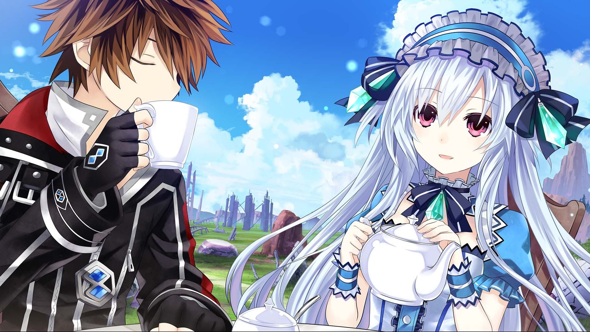 Fairy Fencer F: Advent Dark Force Wallpaper 017 – Fang and Tiara