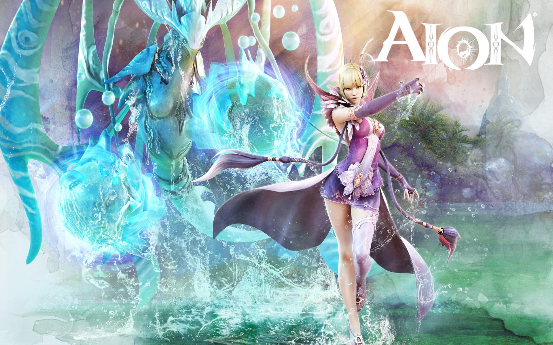 Aion Wallpaper 023 – Asmodian Spiritmaster