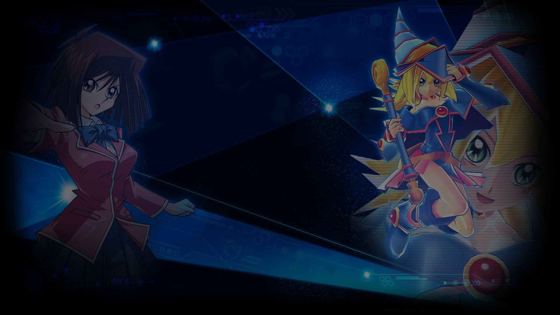Yu Gi Oh Duel Links Wallpaper 001 Tea Gardner Dark Magician Girl