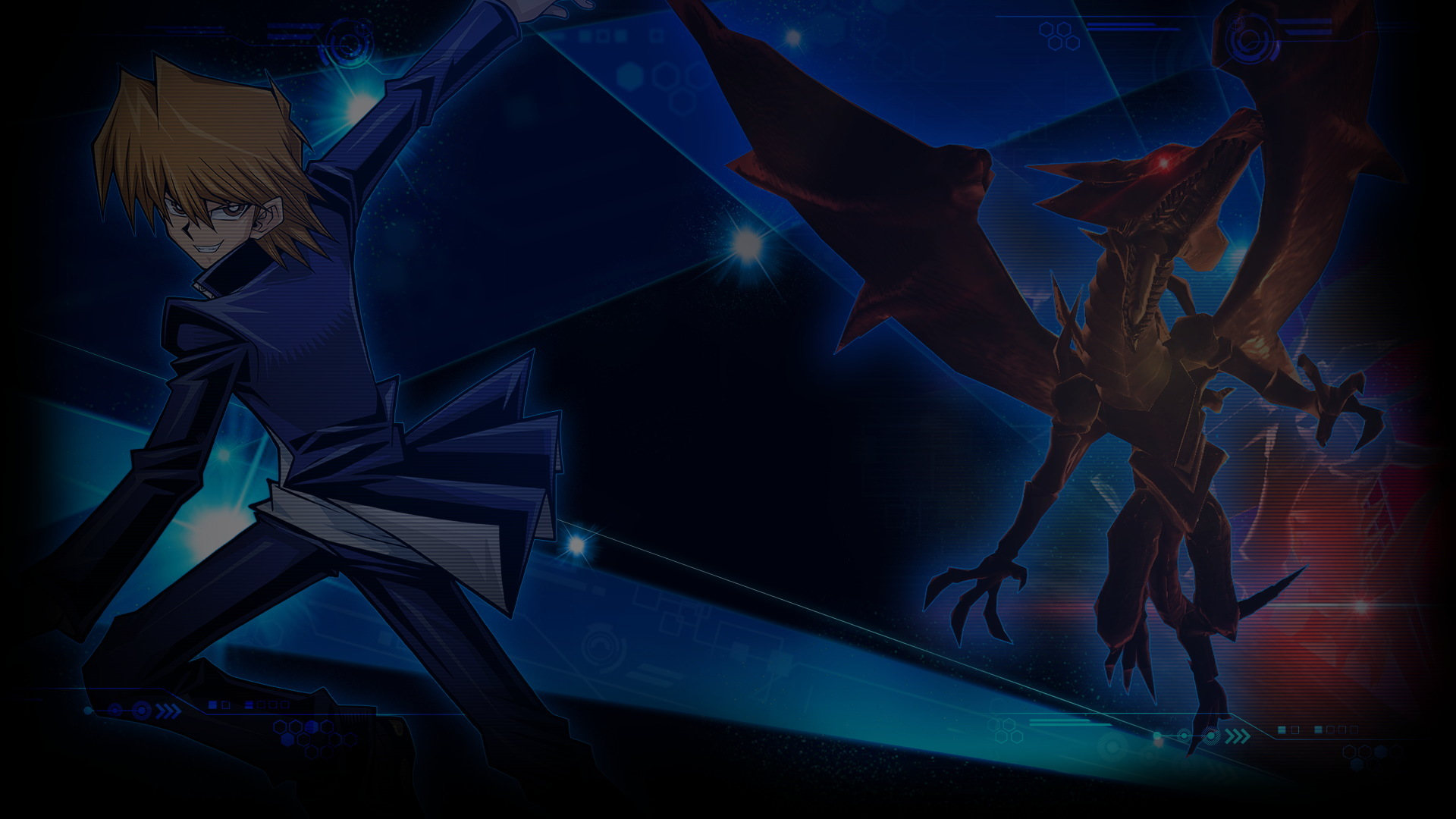 Yu Gi Oh Duel Links Wallpaper 004 Joey Wheeler Red Eyes Black Dragon Wallpapers Ethereal Games