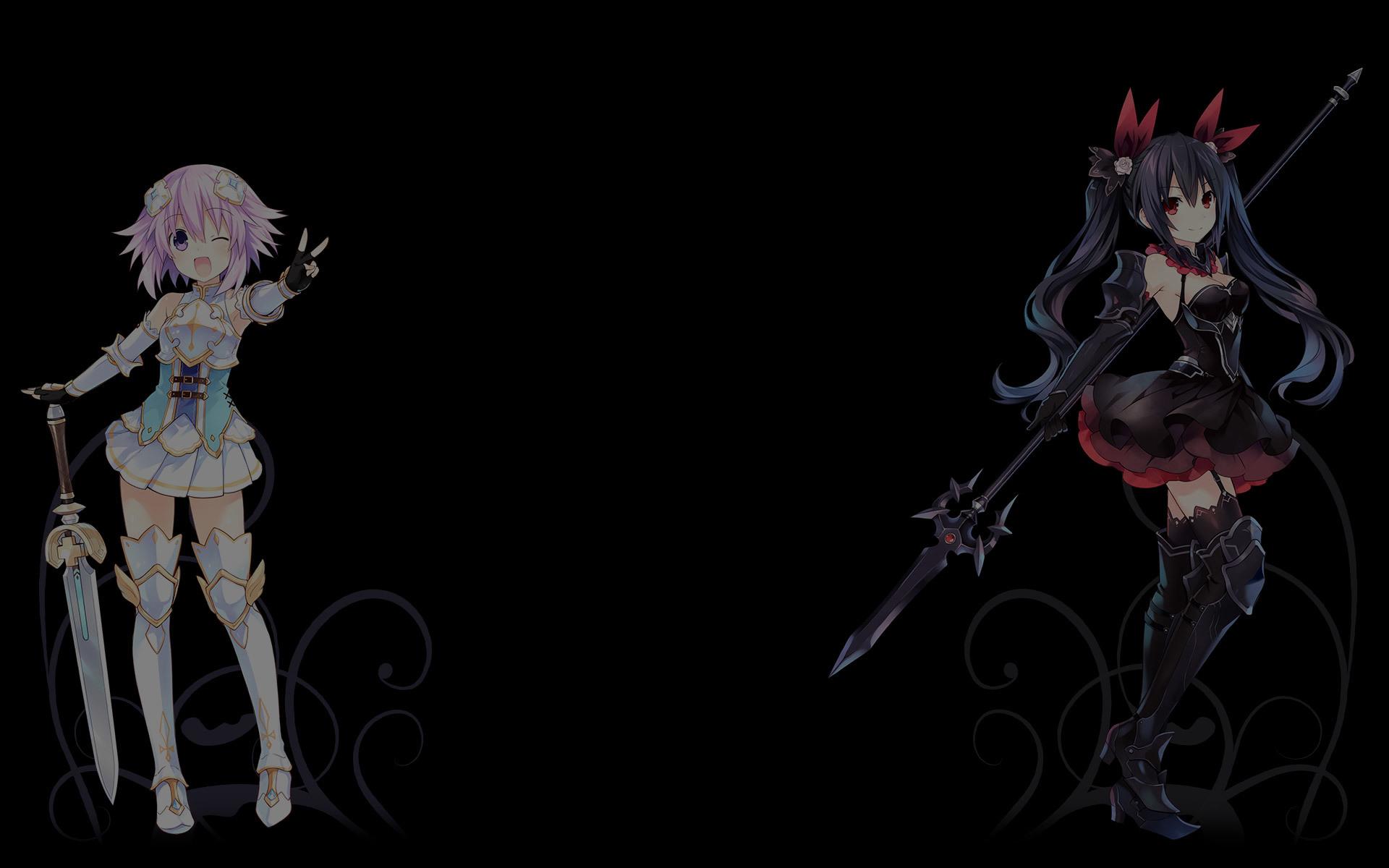 Cyberdimension Neptunia 4 Goddesses Online Wallpaper 002 Neptune and Noire